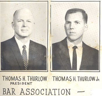 Pictures from the 1961 Martin County Bar Composite.  Thomas H. Thurlow, Sr. served as bar president in 1961.